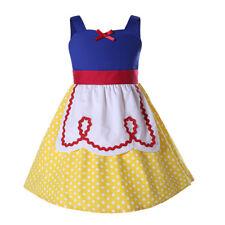 Kids Princess Costume Snow White Cosplay Polka Dot Cotton Girl Party Fancy Dress