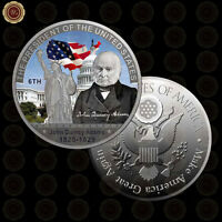WR 6TH American President John Quincy Adams Silver Coins Collector Numismatist