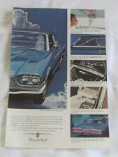 1966 Ford Thunderbird Town Hardtop, Original Car Advertisement, Vintage Print Ad