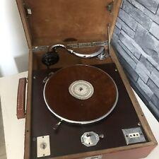 Gramophone Ancien Phonographe Pathe Olotonal Années 30 Valise Mallette Vintage
