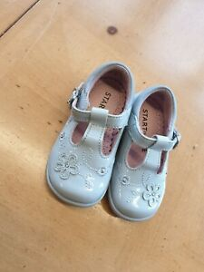 Start-Rite Baby Girl's Blue Patent Leather Shoes Size 3F Infant (EU 19)