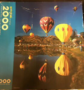 Flying Colors Springbok 2000 Piece Puzzle Balloons Colorful Scenic Landscape +++