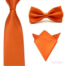 New 3PCS Mens Handkerchief Bowtie Tie Matching Groomsmen Party Wedding YJCtr0019