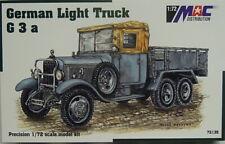 German Truck G3 A Flatbed, MAC, 1:72, Plastic Model Kit, New