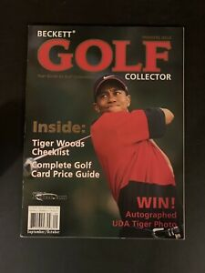 Beckett Golf Collector Magazine (Sept/Oct 2001) TIGER WOODS Cover Premiere Issue