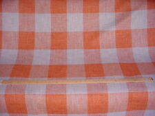 7-7/8Y KRAVET RUSTIC COTTAGE 34090 GREY ORANGE LINED DRAPERY UPHOLSTERY FABRIC