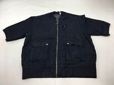 Sean John Woman's Blue Full Zip Short Sleeve Jacket  Denim Size 3XL