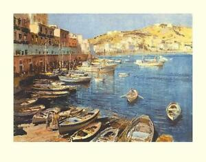 Edward Seago Port Of Ponza Signed Limited Edition of 50