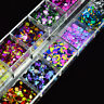 Popular DIY Decoration Nail Art Accessories Round Sequins Mix Color Easy To Use