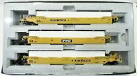 KATO 309051 HO Gunderson MAXI-IV TTX Double Stack Well Car 3- UNIT Set 30-9051