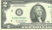B00473828*EXCELLENT CONDITION LOW SERIAL NUMBER TWO DOLLAR STAR NOTE