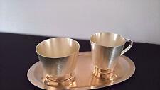Set 3-teilig Milchkännchen Zuckerschale mit Tablett versilbert 50er 60er vintage