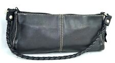 BOOTS'N BAGS BLACK GENUINE LEATHER HOBO / SHOULDER BAG HANDBAG MADE IN COLOMBIA