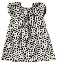 MAKIÉ Girls' 6Y Black & White 100% Cotton Polka Dot Shift Dress
