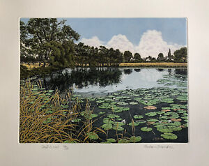 """GRAHAM EVERNDEN (b1947) Limited Edition ETCHING """"Cloud Lillies"""" ed 350"""