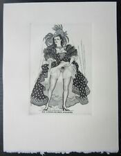 EX LIBRIS Bookplate Mark SEVERIN 211b Rainbird elegant provocative woman erotic
