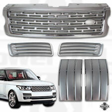 Silver Chrome LWB Autobiography style front grille duct side vent kit L405 2013
