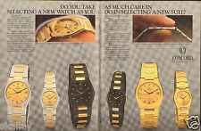 1986 2 Page Print Ad of Concord Freedom Watch Collection