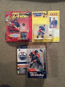 Wayne Gretzky MCFARLANE LEGENDS 1, 1997 Starting Lineup & 1998 Pro Action Figure