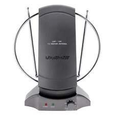 36dB Digital/Analog Flat TV HDTV Indoor Antenna UHF VHF Antena+Adapter+Cable LK
