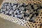 Blue Stars Ornaments 12 X 35 Handmade Quilted Table Runner