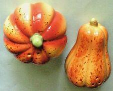 Ceramic Pumpkin Salt & Pepper Shakers #3sx