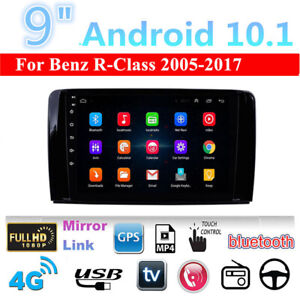 For 2005-2017 Mercedes Benz R-Class W251 Stereo Radio 9'' Android 10.1 Head Unit