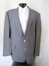 Stafford Blazer Men's Gray Silver Buttons Sport Coat USA Size 52L