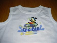 NEW DISNEY MICKEY MOUSE WHITE SLEEVELESS TOP SHIRT INFANT BOYS 24 MONTH