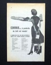 C795 - Advertising Pubblicità- 1953 - CONVAIR E' PREFERITO IN TUTTO IL MONDO