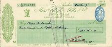 "glynn.mills & co "" holts branch whitehall london "" oct 9th 1951"