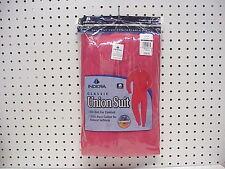 Tall Men's Cotton Union Suit One Piece Long Underwear Large Red