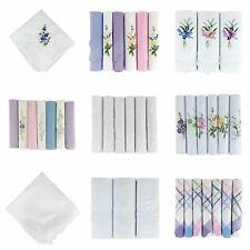 Women's/Ladies Handkerchiefs, Various Colours & Styles, 100% Cotton