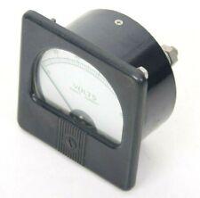 Vintage Direct Current Volts Panel Meter Gauge 0 50