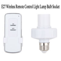 E27 10m Screw Wireless Remote Control Light Lamp Bulb Holder Cap Socket Switch
