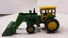1/64 custom 4020 tractor green loader farm toy hiniker cab