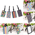Fashion Suitcase Luggage Tags ID Address Holder Silicone Identifier Label Tag
