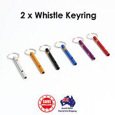 2x Whistle Keyrings Key Ring Pull Chain Badge ID Holder Clip Belt Dog Training