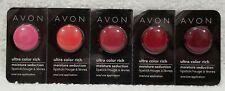 Avon Ultra Color Rich MARASCHINO RED KISS TANGERINE TAFFETA Lipstick Samples New