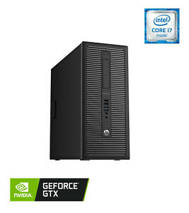 HP EliteDesk 800 G2, Gaming PC, i7-6700, 16GB RAM, 500GB SSD, GTX 1050, WiFi