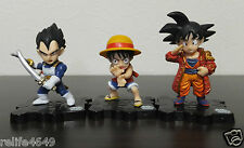 Bandai Dragon Ball Z One Piece 40th Fusion Mini Figure Goku Luffy Vegeta