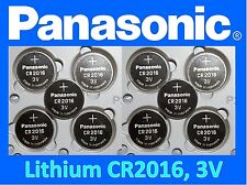 10 pieces Panasonic CR2016 3v, Lithium battery, **Fresh stock**, Ships from USA