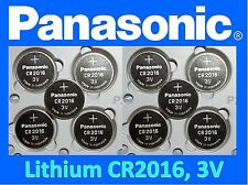 **Save $1, Buy Any 2 packs** 10 pieces Panasonic CR2016 3v Lithium Coin battery