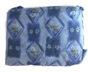 "Wamsutta KING Bedskirt Purple Floral Daisy Daisies 14"" Drop Geometric NOS"