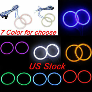 60mm-110mm Car Halo Rings Angel Eyes Light For BMW E36 E38 E39 E46 3 5 7 Series