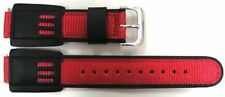 2 PIECES 16MM RED BLACK NYLON LEATHER WATCH BAND STRAP CASIO GSHOCK DW5600E