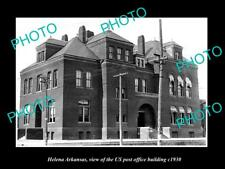 OLD LARGE HISTORIC PHOTO OF HELENA ARKANSAS THE US POST OFFICE BUILDING c1930