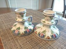 Delft Porcelain Candle Holders,Signed & Numbered, Excellent Condition