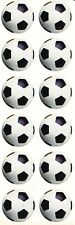 ~ Soccer Balls Football Team Sports White Black Paper House StickyPix Stickers ~