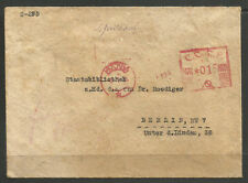 RUSSIA / GERMANY. 1934. COVER. RED MACHINE MOSCOW CANCEL. ADDRESSED TO STATE LIB